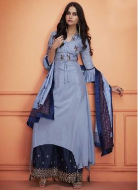 Cotton Silk Palazzo Designer Salwar Suit For Ceremonial