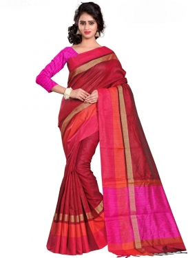 Cotton Silk Print Work Classic Saree