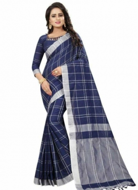 Cotton Silk Print Work Classic Saree