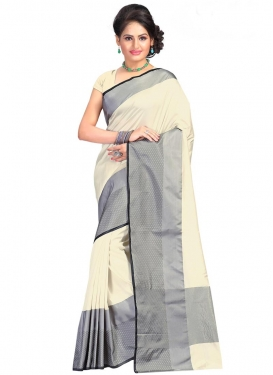 Cotton Silk Print Work Contemporary Style Saree