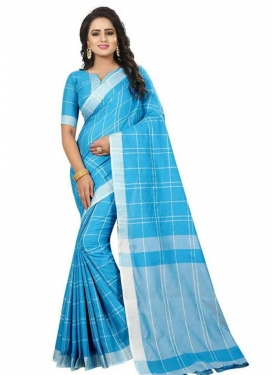 Cotton Silk Print Work Trendy Classic Saree