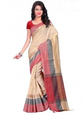 Cotton Silk Print Work Trendy Saree