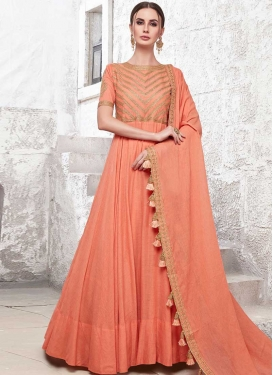 Cotton Silk Readymade Classic Gown For Party