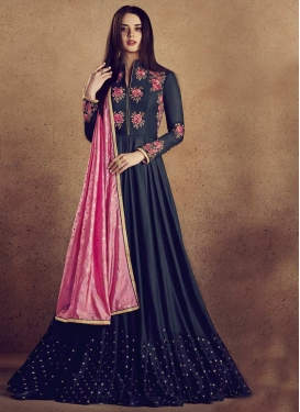 Cotton Silk Readymade Floor Length Gown For Party