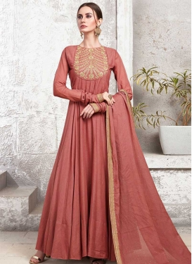 Cotton Silk Readymade Long Length Gown