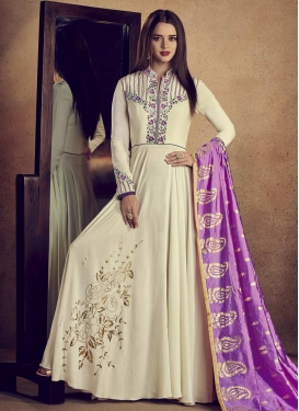 Cotton Silk Readymade Trendy Gown For Festival