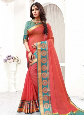 Cotton Silk Thread Work Contemporary Saree