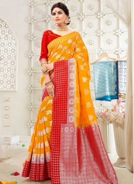 Cotton Silk Thread Work Traditional Saree