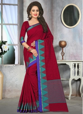 Cotton Silk Traditional Saree For Ceremonial