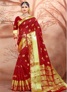 Cotton Silk Traditional Saree For Ceremonial