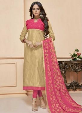 Cotton Silk Trendy Churidar Salwar Kameez For Casual