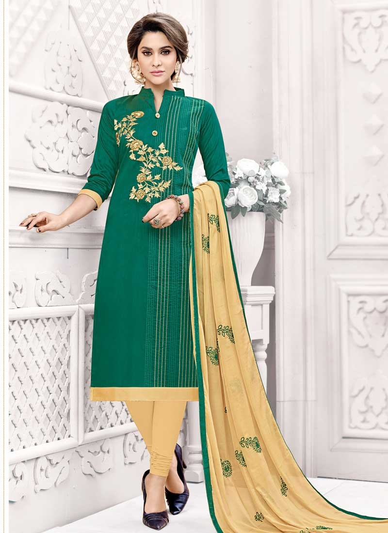 Cotton Silk Trendy Churidar Salwar Suit For Casual
