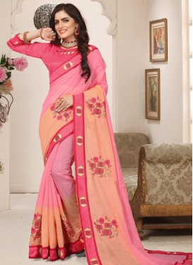 Cotton Silk Trendy Classic Saree For Festival