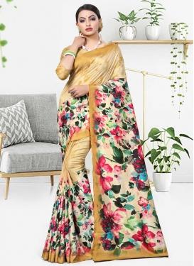 Cotton Silk Trendy Saree For Casual