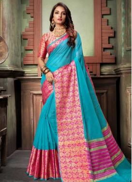 Cotton Silk Trendy Saree For Festival