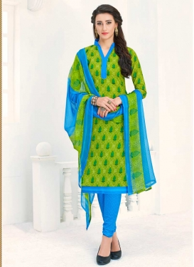 Cotton Trendy Churidar Salwar Kameez For Casual