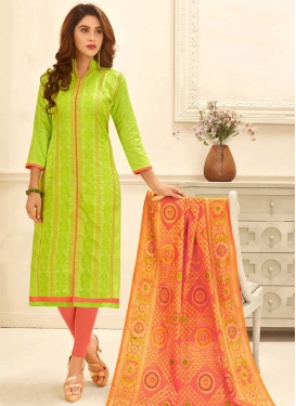 Cotton Trendy Churidar Salwar Kameez For Festival