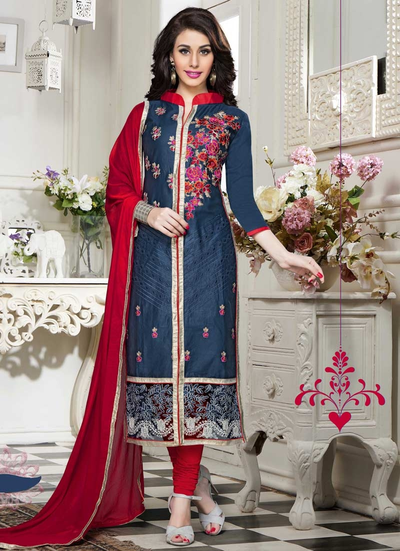 Cotton Trendy Churidar Salwar Kameez For Festival