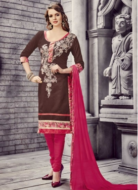 Cotton Trendy Churidar Salwar Suit For Ceremonial
