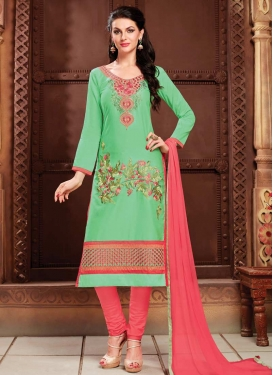 Cotton Trendy Churidar Salwar Suit For Festival