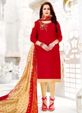 Cotton Trendy Churidar Suit For Casual