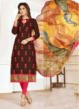 Cotton Trendy Straight Salwar Kameez For Casual
