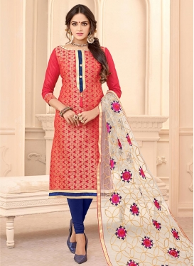 Cotton Trendy Straight Salwar Kameez For Ceremonial
