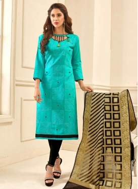 Cotton Trendy Straight Salwar Kameez For Festival