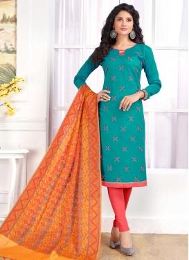 Cotton Trendy Straight Salwar Suit