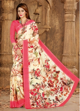 Cream and Salmon  Traditional Saree
