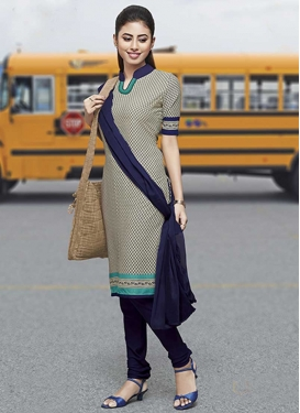 Crepe Silk Churidar Salwar Suit For Casual