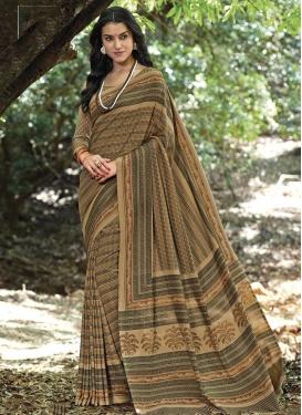 Crepe Silk Contemporary Saree For Casual
