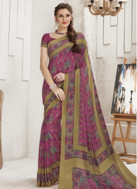 Crepe Silk Contemporary Style Saree
