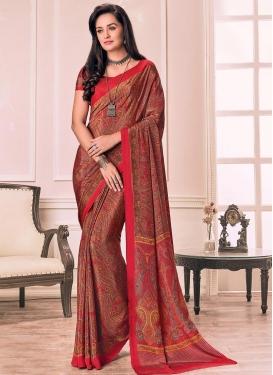 Crepe Silk Contemporary Style Saree
