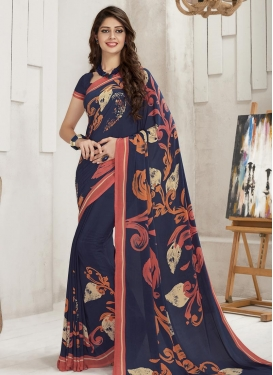 Crepe Silk Contemporary Style Saree For Casual