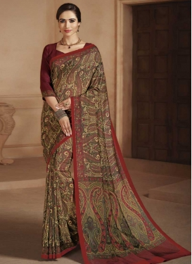 Crepe Silk Designer Contemporary Style Saree