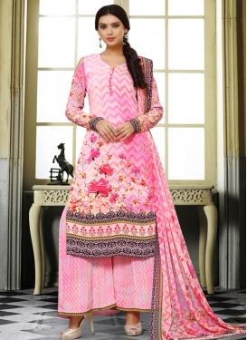 Crepe Silk Designer Palazzo Salwar Kameez