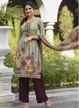 Crepe Silk Designer Palazzo Salwar Suit