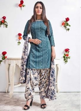 Crepe Silk Designer Patiala Salwar Kameez
