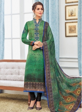Crepe Silk Long Length Pakistani Salwar Suit