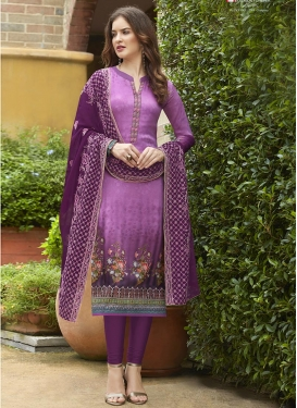 Crepe Silk Pakistani Salwar Kameez