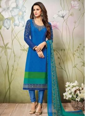 Crepe Silk Pakistani Straight Salwar Suit
