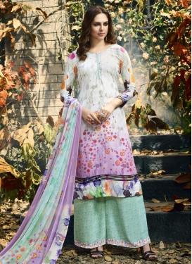 Crepe Silk Palazzo Style Pakistani Salwar Kameez For Festival