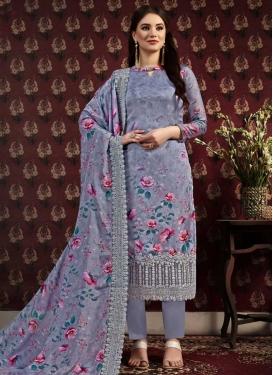 Crepe Silk Pant Style Pakistani Salwar Kameez For Festival