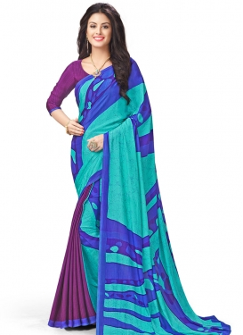 Crepe Silk Traditional Saree For Casual