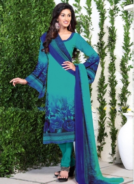 Crepe Silk Trendy Churidar Suit