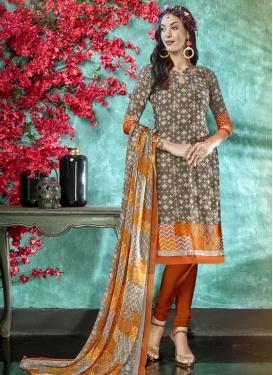 Crepe Silk Trendy Churidar Suit For Casual