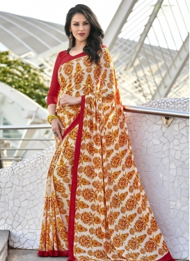 Crepe Silk Trendy Classic Saree For Casual