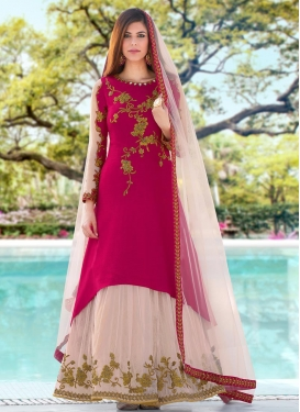 Crepe Silk Trendy Designer Salwar Kameez