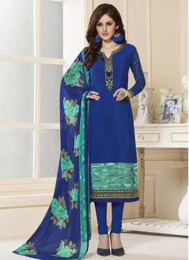 Crepe Silk Trendy Pakistani Salwar Suit For Festival